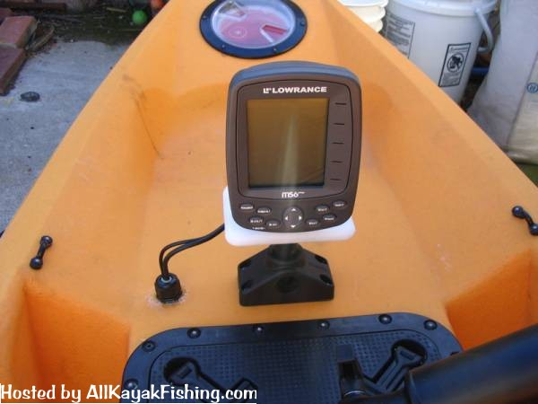 fish finder adaptor plate - all kayak fishing forums, Fish Finder