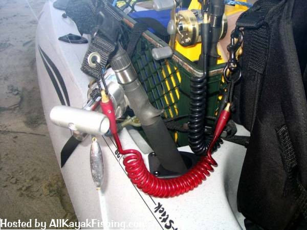 Fishing rod leash all kayak fishing forums for Fish on a leash